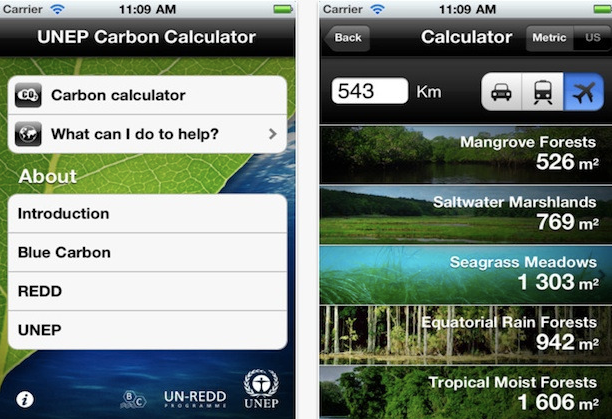 UNEP Carbon Calculator App